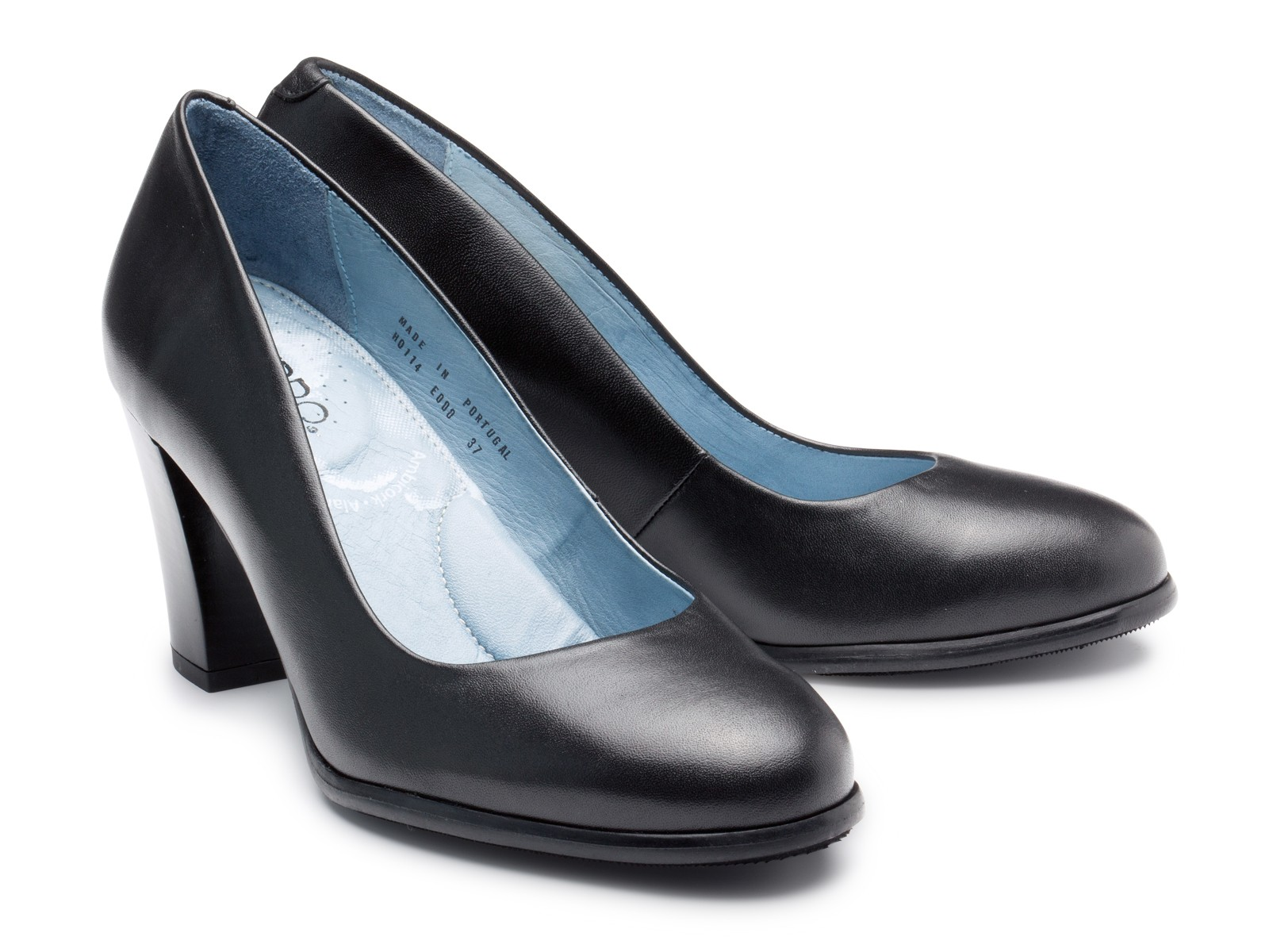 Nancy Bird shoe model in black.