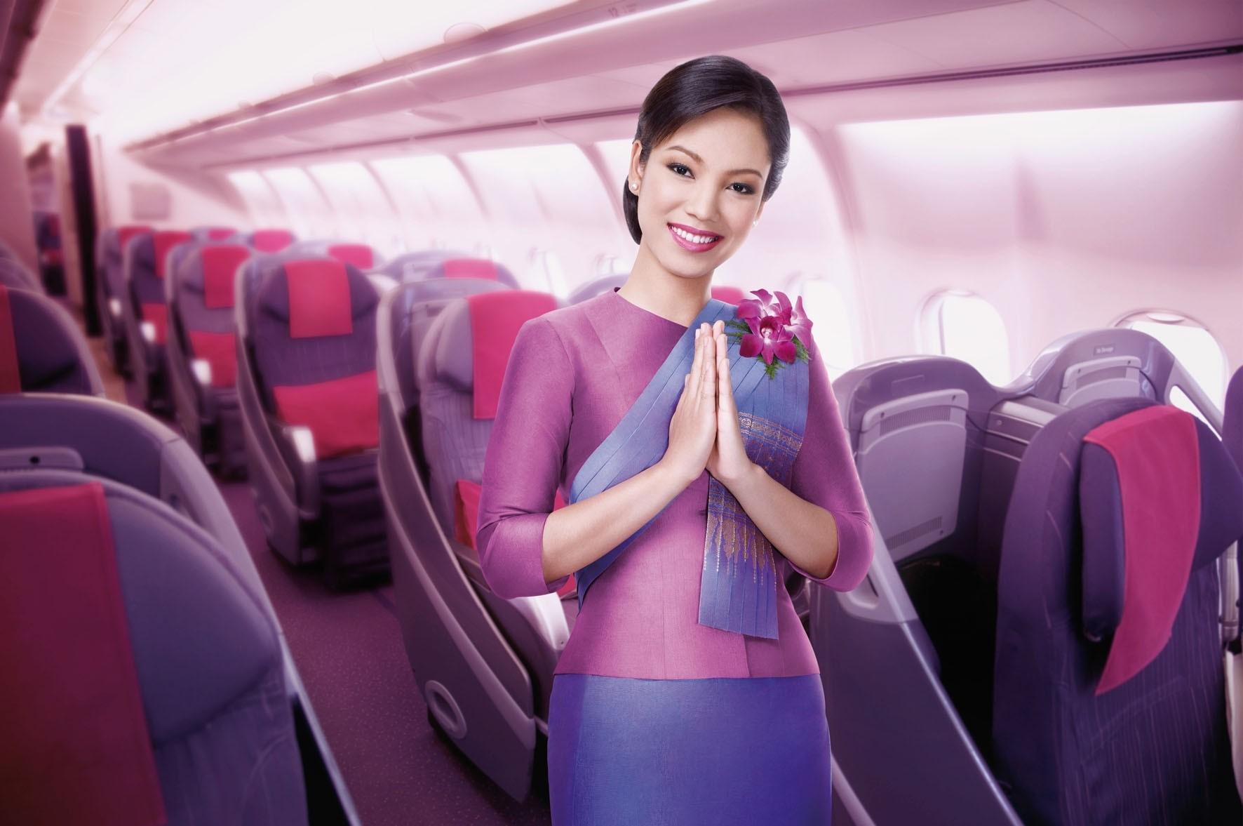 Image result for Thai Airways cabin crew uniform